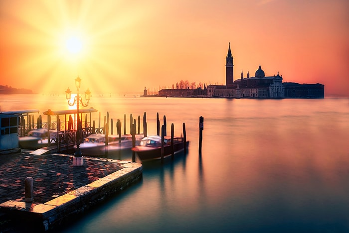 A wonderful sunset in Venice