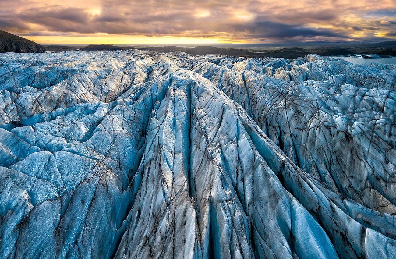 Glacier view from above,shooting with my drone