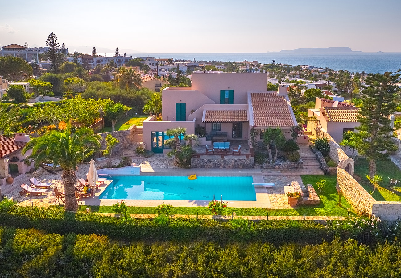 Aerial photography villas from professionals