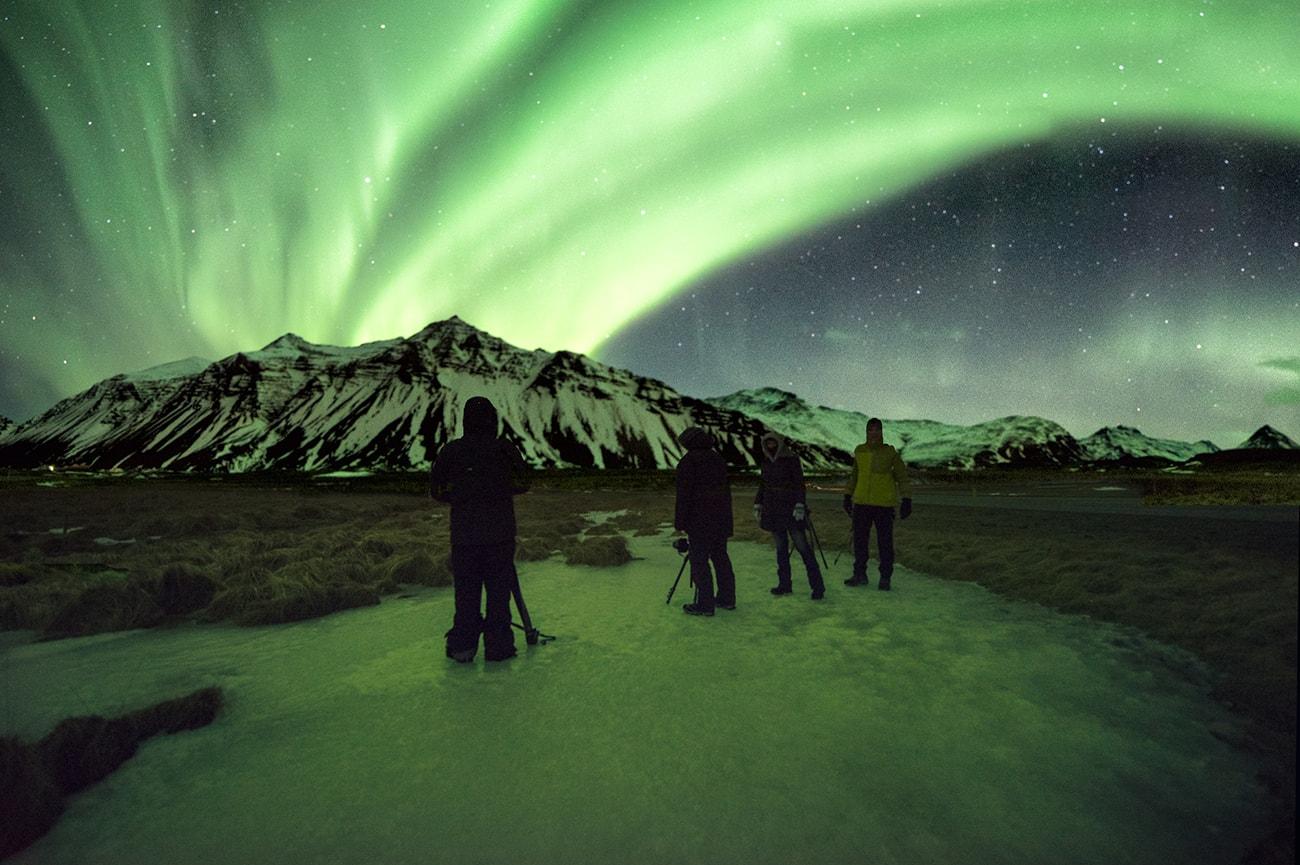 Auurora borealis in iceland